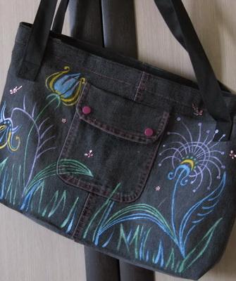 Как можно красиво украсить старую кожаную и джинсовую сумку своими руками бисером и стразами